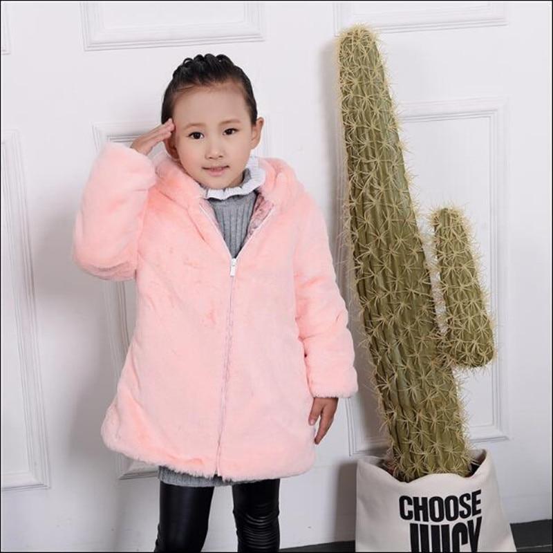 d643d3c7f Baby Boys Girls Faux Fur Coat Hooded Outerwear Kids Imitation Fluffy ...