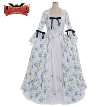Rococo Style Flower Print Victorian Civil War Southern Belle Ball Gown Dress  custom made( fcfd42f38e70