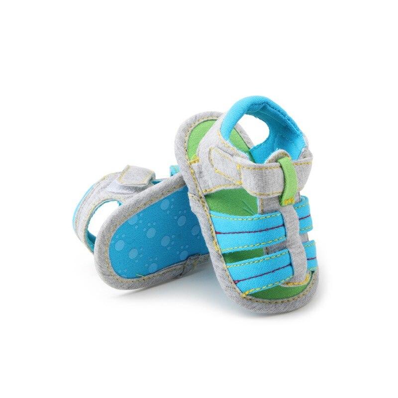 Spring Summer Shoes Boys Soft Cavans Sandals Children Baby Boys Prewalker Soft Sole Genuine Cotton Beach Sandals New