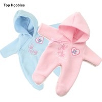 Pink Blue Coverall For Dolls Adorable Blouse Dresses For 10 Reborn Dolls Cute Fashion Dolls Accessories