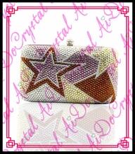 aidocrystal geometic muster braut geldbörse brieftasche dame kristall abend clutch bag