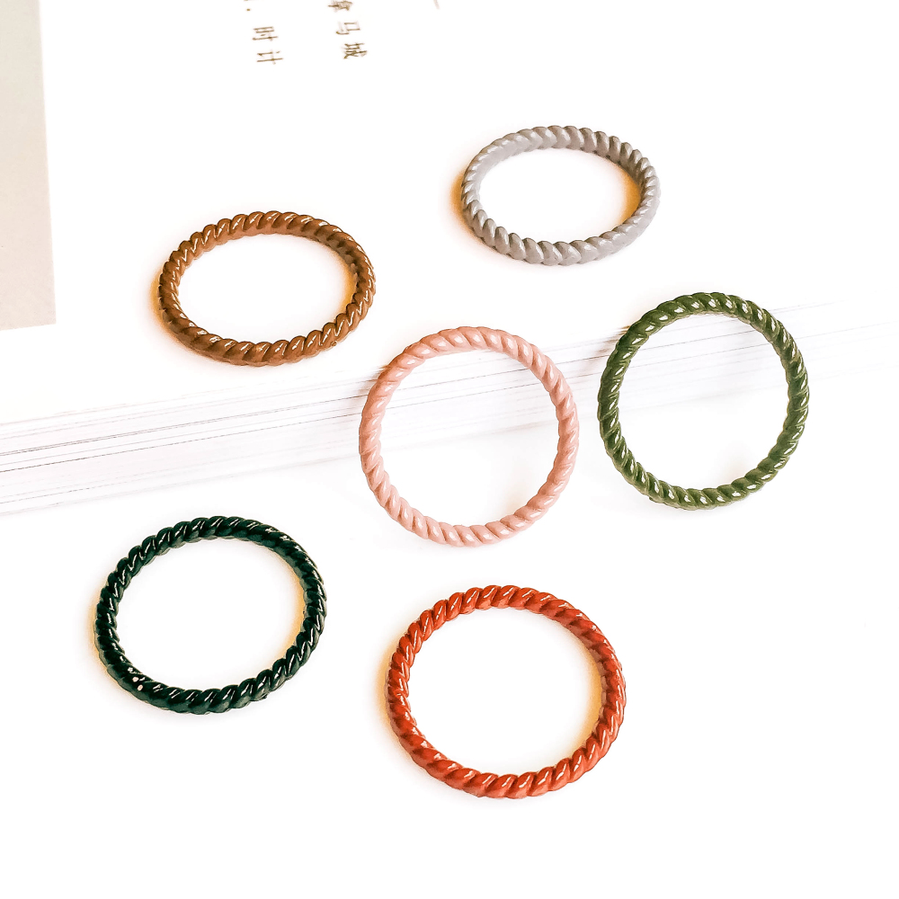 ZEROUP Multicolors 21mm Ring Circle Loop Eardrop Pendant Charms Jewelry Component Diy Handmade Material 6pcs