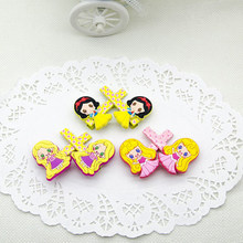 2 Pcs/Pair New Cartoon Snow White Princess Aurora Merida Rapunzel Ariel Cinderella Hair Pin Hair Clip for Girls Gift Toy Figure(China)