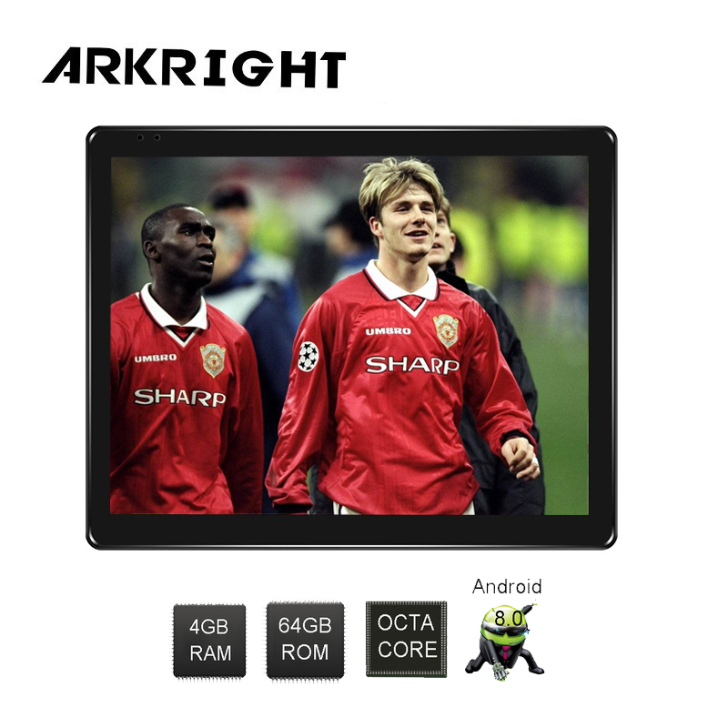ARKRIGHT 9.7'' 1 Din lateral IPS Screen 4gb+64gb Android 8.1 Car stereo Radio GPS/car reveiver/Universal multimedia Player image
