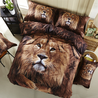 IvaRose 2017 Siyah baskı 3d tiger Leopar aslan yatak takımları kraliçe kral yatak örtüsü nevresim set pamuk çarşaf