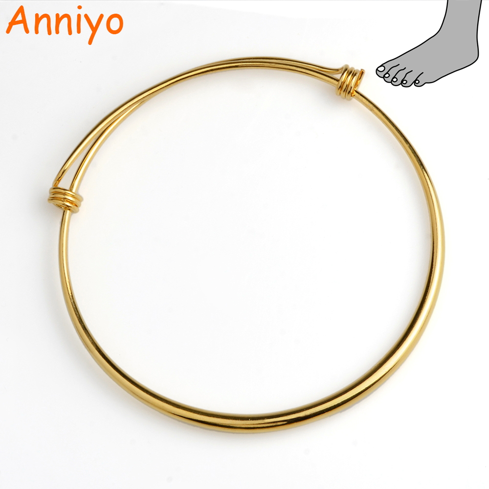 Anniyo African Anklet Resizable Gold Color & Copper for Women,Ethiopian/Middle East/Arab Trendy Foot Jewelry Best Gifts #005707