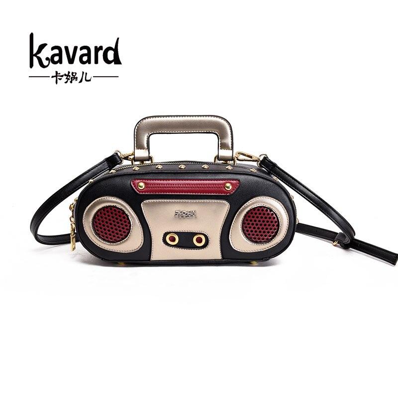 Kavard Brand 2017 Retro Radio Shape font b Bag b font Ladies Cute font b Handbag