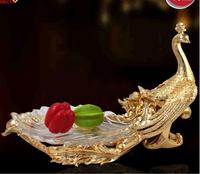 European Phoenix Fruit Club KTV Glass Fruit Plate Decoration Of Modern Home Furnishing Soft Resin