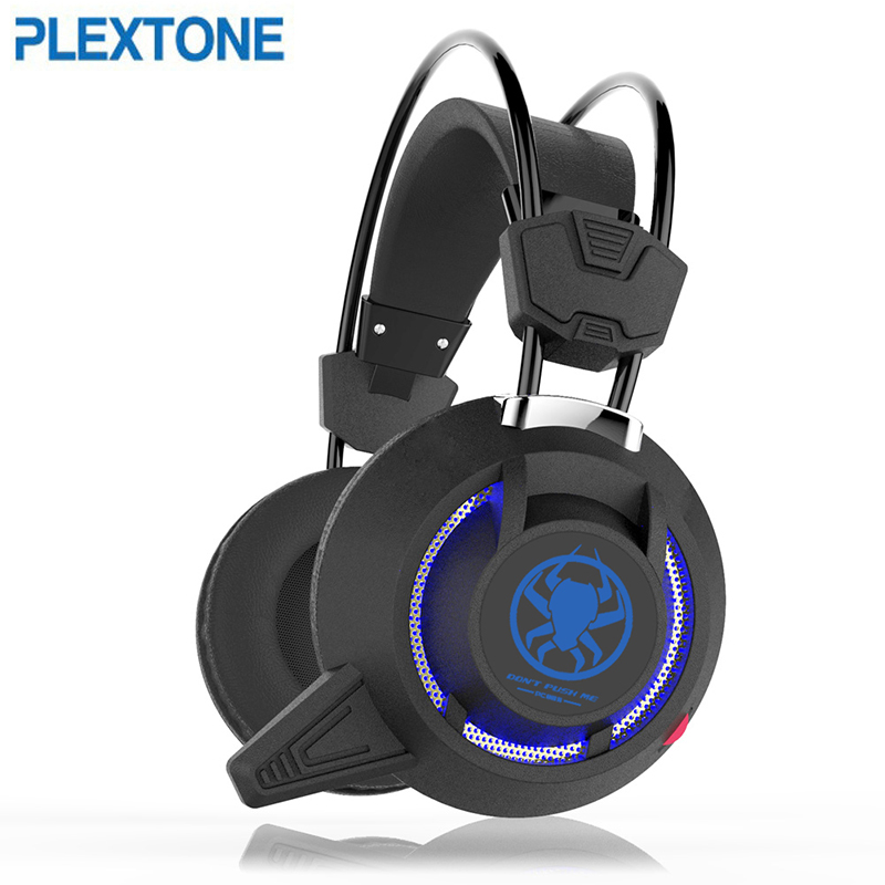 PLEXTONE pc835 Professional Game Stereo Headset Bass Earphone with Microphone LED Light Computer headphones 2.2m Cable pc 610 stereo headset w microphone black 3 5mm plug 150cm cable