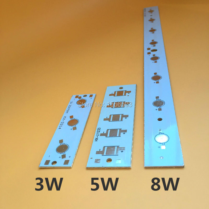 10 Pcs/lot LED High power PCB Board Empty Plate Lamp Panel Aluminum Heat sink for 3W 5W 8W Strip Rectangle LED Lamp Base