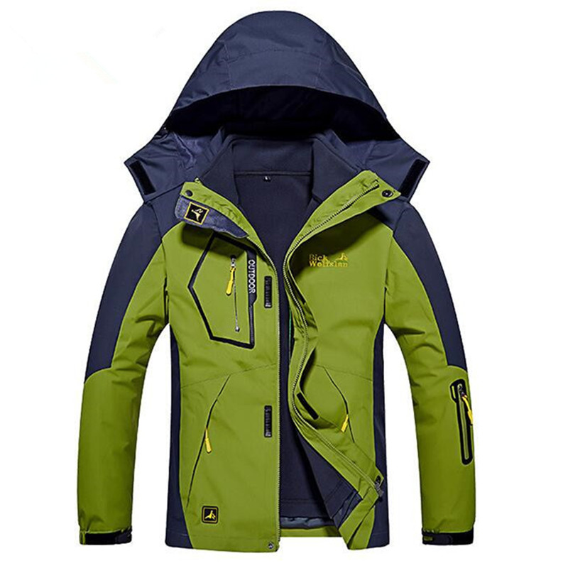Mens Outdoor Waterproof Windproof Jackets Camping Climbing Thicken 2 In 1 Autumn Winter Hiking Male Trekking Skiing Warm CoatsMens Outdoor Waterproof Windproof Jackets Camping Climbing Thicken 2 In 1 Autumn Winter Hiking Male Trekking Skiing Warm Coats
