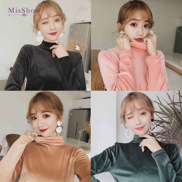 Women Fashion Sweater Korean Style Slim Candy Color Cotton Pullover Soft Winter Sweater Top Women Turtleneck Pull Femme Shirt