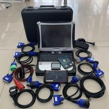 Dpa5 usb Дизель грузовик диагностический сканер программного обеспечения с ноутбуком cf19 сенсорный экран полный набор тяжелых 2 года гарантии