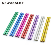 NEWACALOX 14 sztuk nietoksyczny stałe kolorowe do diy klej termotopliwy w sztyftach 11mm do pistolet do kleju Craft Album akcesoria do naprawy klej(China)