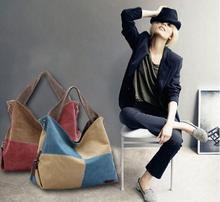 Women Bags Panelled Canvas Women Messenger Bags Women Handbags
