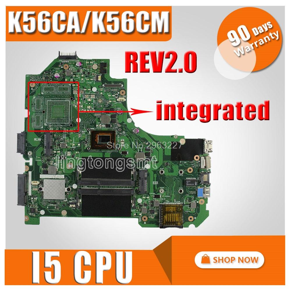 K56CM Motherboard REV:2.0 i5 CPU For ASUS S56ca K56CA S550CA Laptop motherboard K56CM Mainboard K56CM Motherboard test 100% OK laptop motherboard k56cm main board rev 2 0 for k56ca