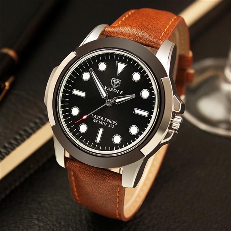 YAZOLE Brand de ceas cuarț Bărbați militare Armate de sex masculin Sporturi încheietura ceasuri Luminos verde Ghost Famous Watch Montre Homme YD372