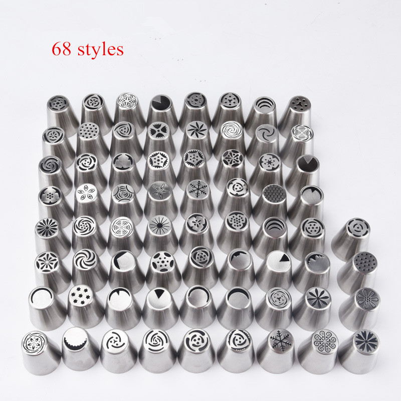 High Quality Cheap Stainless Steel Cake Decoratring Nozzle Multi-style Baking Tools Integrated Molding Nozzle drop shipping