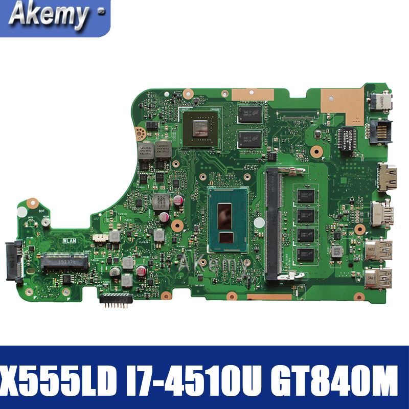 Amazoon  X555LD Laptop Motherboard For ASUS X555LD X555LP X555LA X555L X555 Test Onboard Mainboard 4G-RAM I7-4510U GT840M