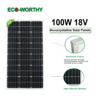 ECO 100W 18V Monocrystalline Solar power Panel for 12v Battery charger Grid System for home light 1000W solar panels system kit