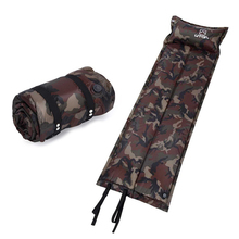 AOTU Automatic Inflatable Mat Outdoor Tent Air Mattress Camping Mat with Pillow Camouflage Damp-proof Sleeping Pad for camping