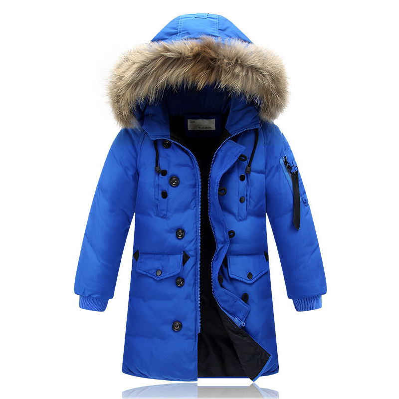 5-14Y High Quality Boys Thick Down Jacket 2016 New Winter Children Long Sections Warm Coat Clothing Boys Hooded Down Outerwear new 2017 russia winter boys clothing warm jacket for kids thick coats high quality overalls for boy down