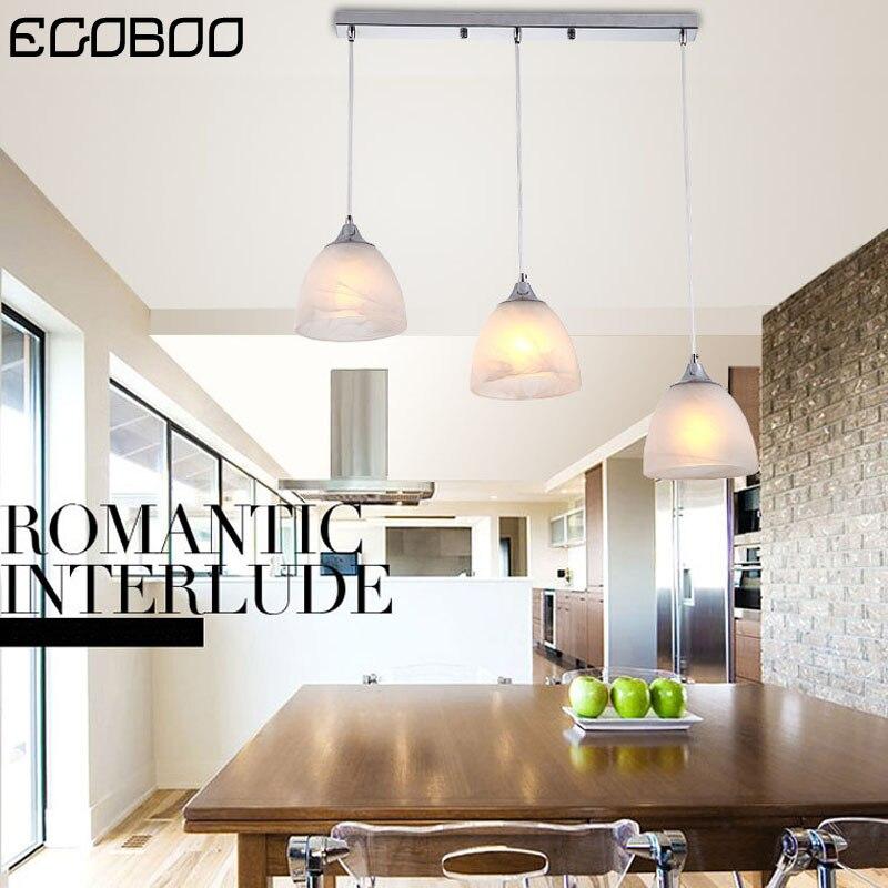 EGOBOO Modern LED chandelier sleek minimalist living room lighting restaurant ceiling lamp glass cover lamps