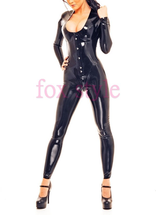 Arrivals rubber latex straitjacket leotard tights Corset all-in-one - Fox Style store