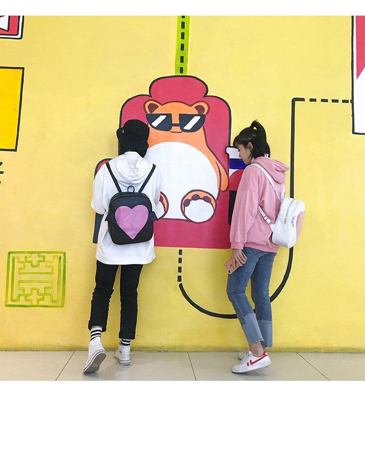 MSMO  Ita- brillo claro Flap ala mochila Japón Harajuku niñas Kawaii ... 19e254ceb8e8