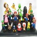 18 unids/set Super Mario Bros PVC Figuras de Acción de juguete dinosaurio yoshi Peach toad Goomba SuperMario Al Por Mayor