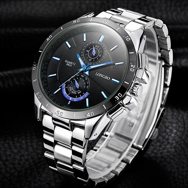 LONGBO Wristwatch 2018 Quartz Watch Men Watches Top Brand Luxury Famous Wrist Watch Male Clock for Man Hodinky Relogio Masculino longbo luxury brand fashion quartz watch blue leather strap women wrist watches famous female hodinky clock reloj mujer gift