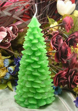 3D Christmas Tree Decoration Silicone Candle Mold Form D Handmade Resin Clay Crafts Moulds Decoration Tools Supplier