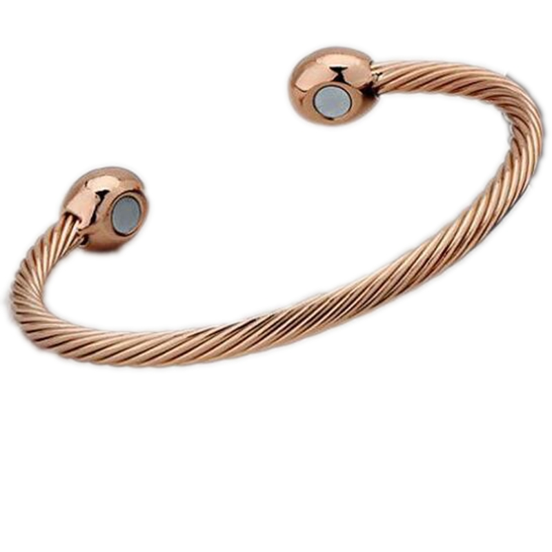 Health Care Bracelets Bangles Health Twisted Opening Cuff  Magnet Bangle Copper Magnetic Therapy Bracelet Healing Jewelry