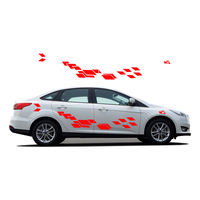 Car Decals For Ford Focus 2017 New Personality Car Sticker Funny DIY Decal Sticker Car Styling 2 Color 2 Pcs Car Accessories