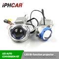 Envío libre iphcar led projectot cubierta universal car styling 3.0 pulgadas LED Bi-xenon Lente Del Proyector para H1 H4 H7 H11 Kit de Coche