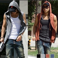 Free Shipping New Men's Sleeveless Hoody Vest Fashion Cotton Top Mens Undershirt Spring and Autumn Chaleco V2014006
