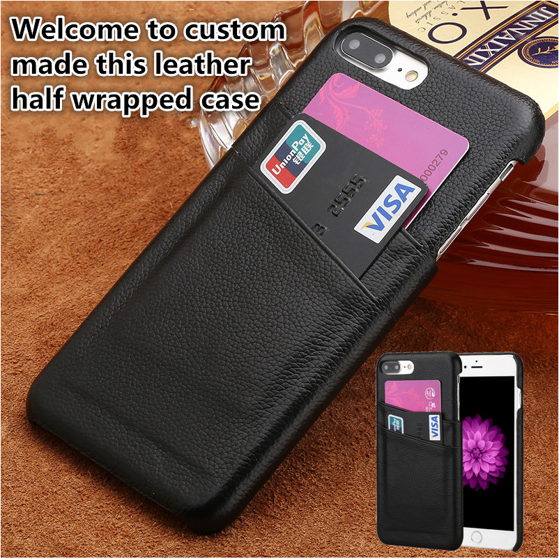 LJ14 Genuine leather cover case with card holders for Apple iphone 7 Plus phone cover for Apple iphone 7 Plus phone case