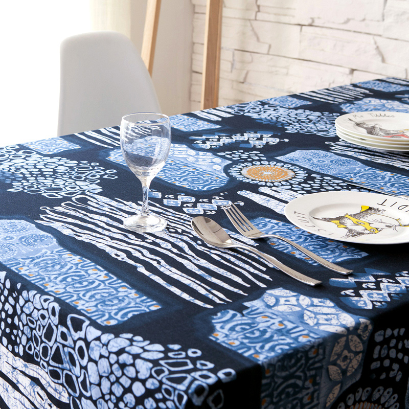 Ancient Chinese Folk Style Blue And White Linen Tablecloths Fabric Table Cloth  Tablecloth Computer Background Cloth In Tablecloths From Home U0026 Garden On  ...