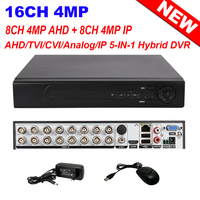 H.264+ CCTV Security 4MP 16CH AHD CVI TVI Analog IP Network 5 IN 1 Hybrid DVR NVR Surveillance 8CH AHD 4MP + 8CH IP 4MP Hi3531A