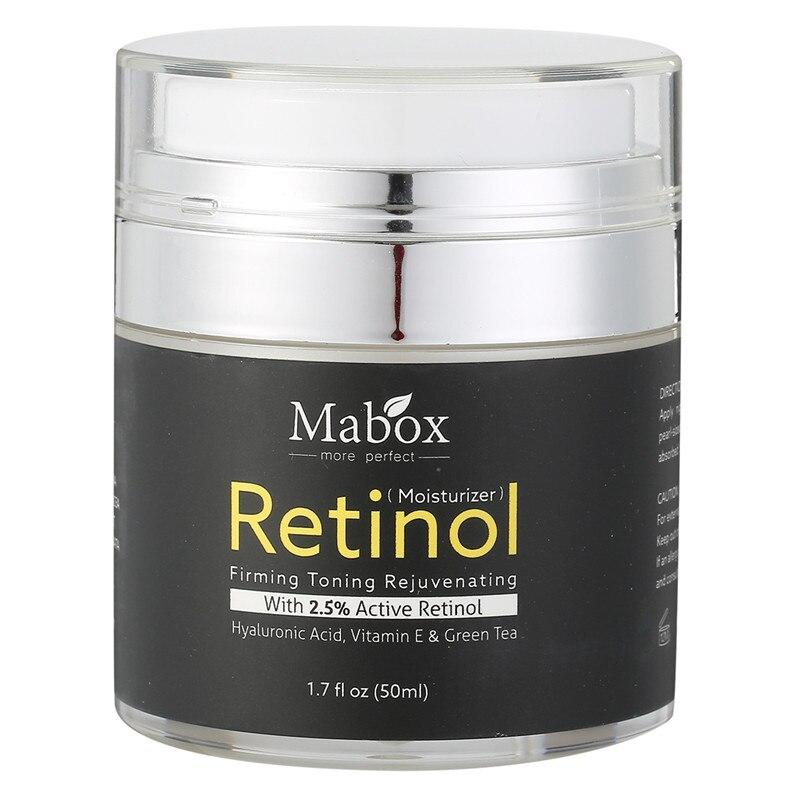 Rétinol 2.5% Hydratant Visage Crème Vitamine E Collagène Retin Anti Vieillissement Rides Acné Acide Hyaluronique Vert Thé Blanchiment Crème