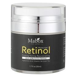 Retinol 2.5% crema hidratante para la cara vitamina E colágeno retina antiedad arrugas acné ácido hialurónico Verde té crema blanqueadora