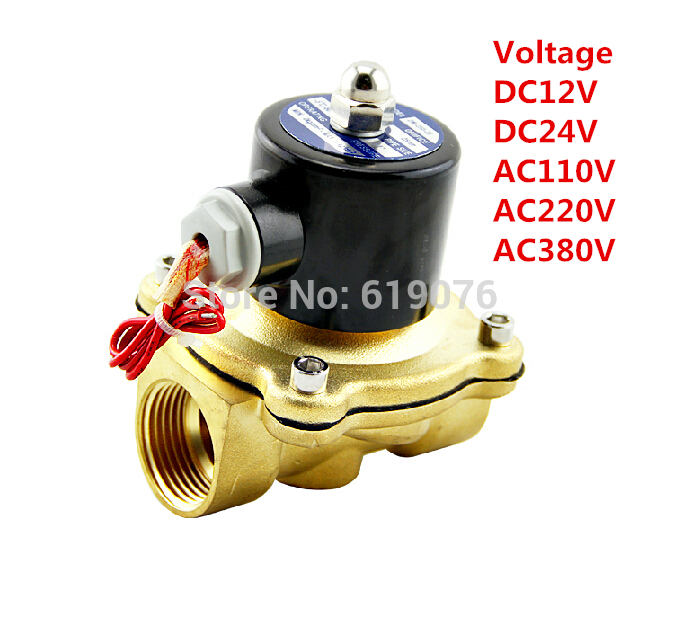 2W400-40 N/C 2 Way 1-1/2 Gas Water Pneumatic Electric Solenoid Valve Water Air package mail 2w200 20 n c 2 way 3 4 gas water pneumatic electric solenoid valve water air dc12v 24v ac110v 220v