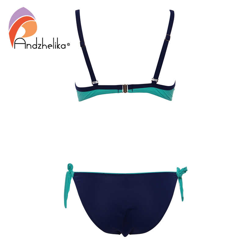 Andzhelika 2018 Sexy Lớn Mềm Mại Cốc Bikini Nữ Bikini Dây Áo Tắm Chắc Chắn Đầm Tiệc Mùa Hè Đi Biển Plus Kích Thước Đồ Bơi