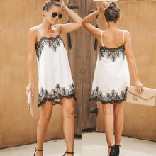 New 2019 Fashion Summer strapless womens mini dress Bohemian white lace applique sleeveless spaghetti strap dresses