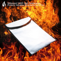 Fireproof Resistant Document Bag For Money Storage Waterproof Safe Storage Pouch For Bank File Passport Legal