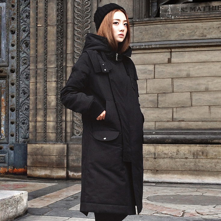 SuperAen Autumn and Winter Women's Cotton New Parkas Coat Korean Style Loose Casual Wild Fashion Parkas Hooded Coat Female casual style head portrait pattern loose hooded fleeces