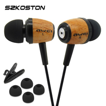 Q9 Wooden Earphone With TPE Wire & Hifi Speaker 3D Stereo Sound For Android/IOS Smartphone iphone xiaomi mp3 Laptop ipad PC