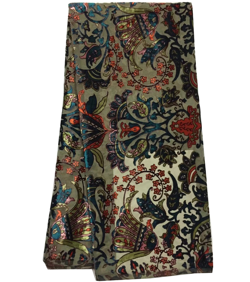 5yards pc colorful African silky velvet lace fabric soft and smooth with gorgeous pattern for