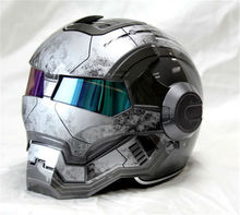 Top ABS Moto biker Helmet ktm 610 MASEI Iron Motorcycle Skull Open Face personality Helmet moto Capacete Casque motocross Casco