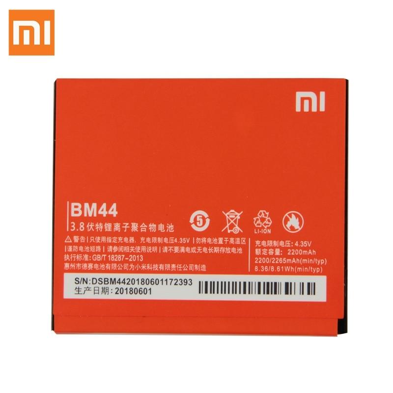 Original Replacement Battery For Xiaomi MI Redmi 2 2A Redmi 1S BM44 Genuine Phone Battery BM40 BM41 2265mAhOriginal Replacement Battery For Xiaomi MI Redmi 2 2A Redmi 1S BM44 Genuine Phone Battery BM40 BM41 2265mAh